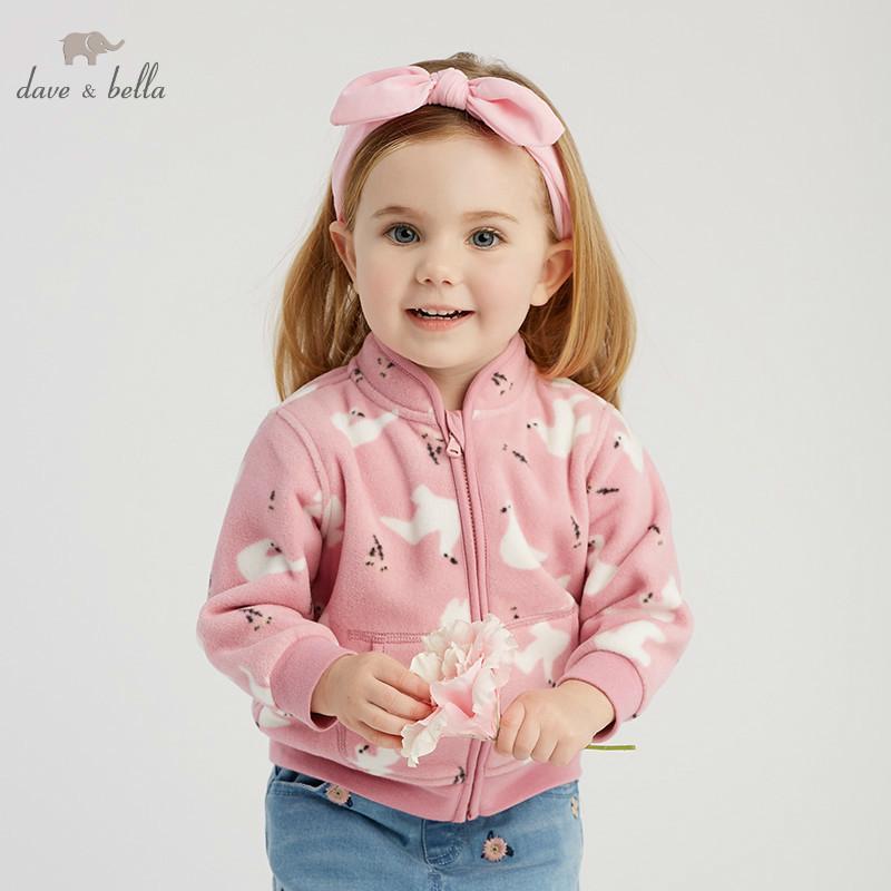 Dave Bella Bahar Bebek Güzel Ceket Çocuk Moda Giyim Çocuklar Sevimli Ceket LJ201126