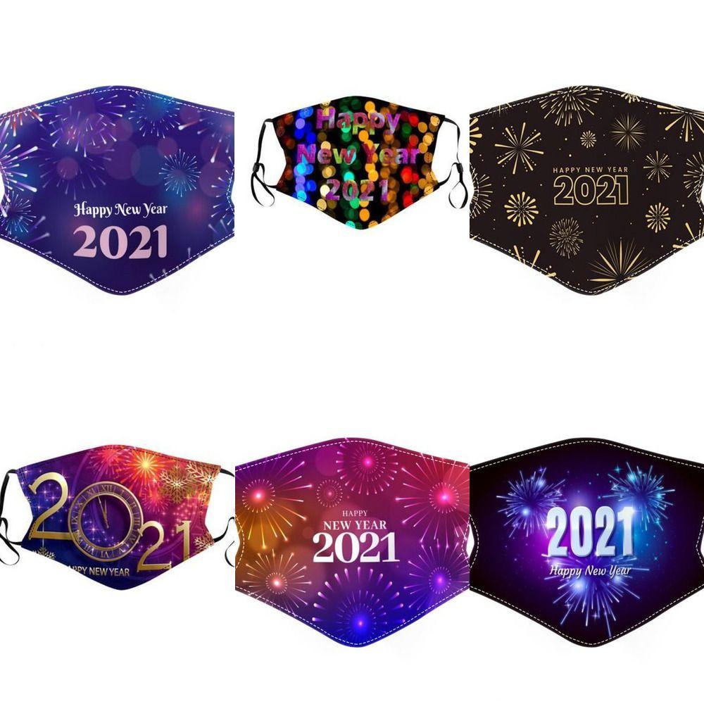 Fez-nos personalizado 2021 natal novo ano de Natal festa masque face máscaras decorações adulto miúdo face máscaras de algodão copo de algodão