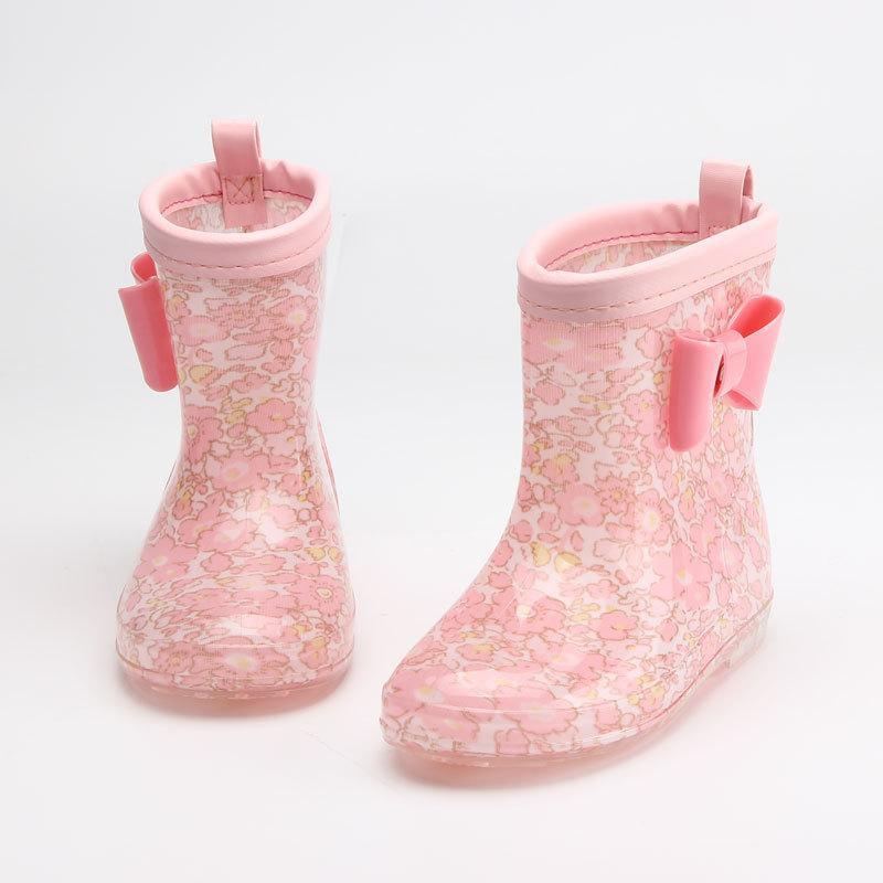 2020 BOCK BAMBINI PER RAGAZZO GIOCHI PIOGGIO Stivali da pioggia PVC Bambini per bambini Cartoon scarpe impermeabili Rainboots 5 colori