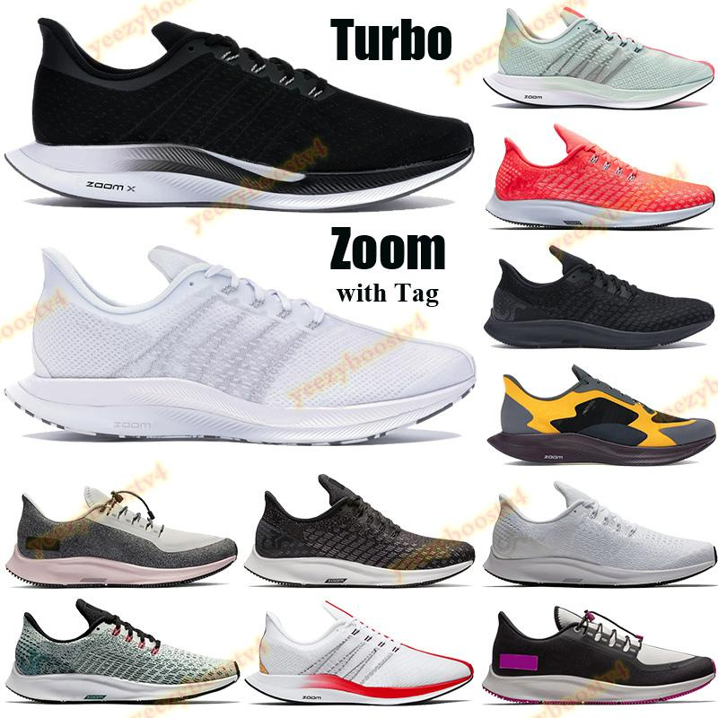 Zoom New Pegasus Fly 35 Homens Mulheres Running Sapatos Turbo Treinadores Preto Vasto Lobo Cinza Branco Perfurador Hot Partícula Rose London Sneakers Tag