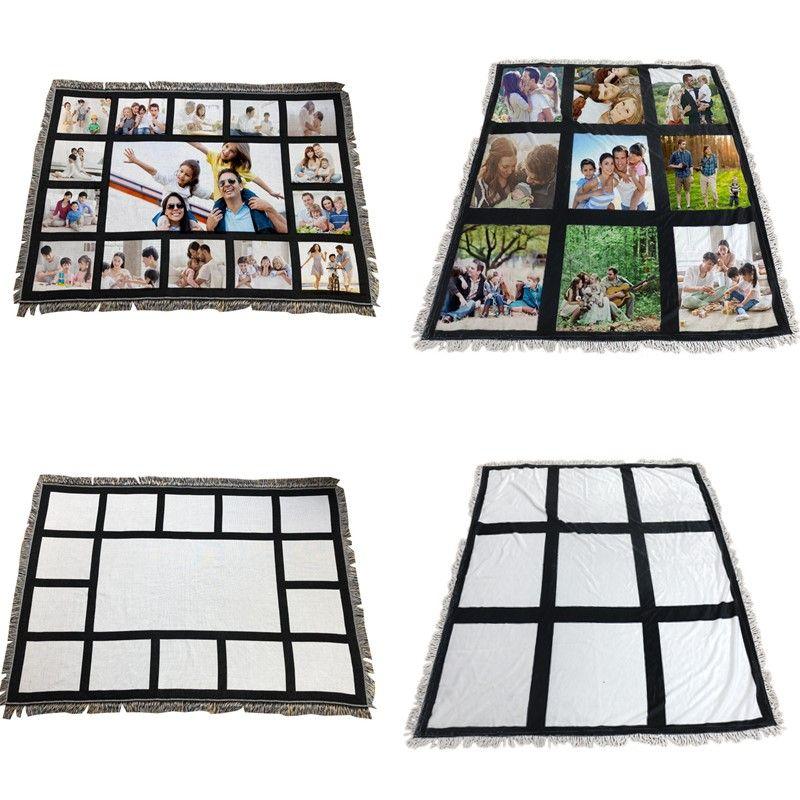 1,25 * 1,5 m Sublimationsdecke weiße leere Decke für Sublimation Teppich quadratische Decken für Sublimating Wärmeübertragung Drucktecke
