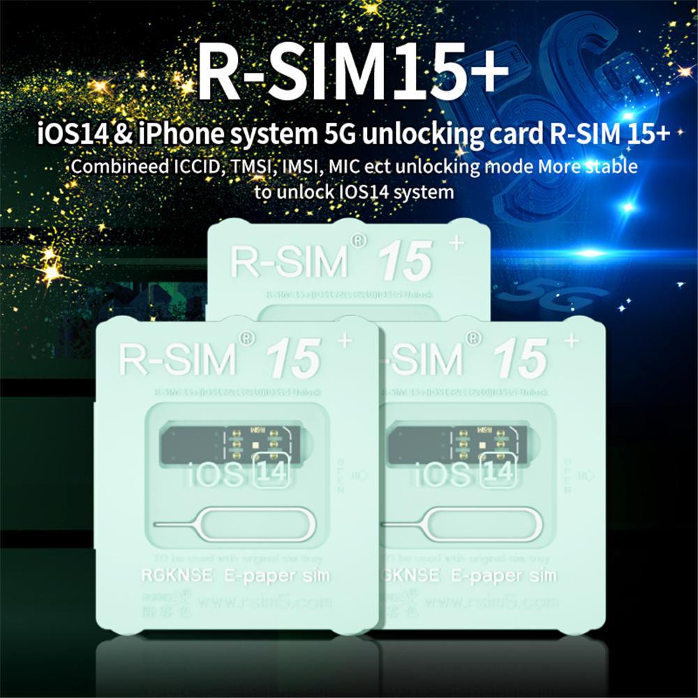 RSIM15+ For iOS14 Unlock Card R-SIM15+ Dual CPU Upgraded Universal Unlocking For iPhone 12 11 Xs MAX XR X 6 7 ISO7-14.x