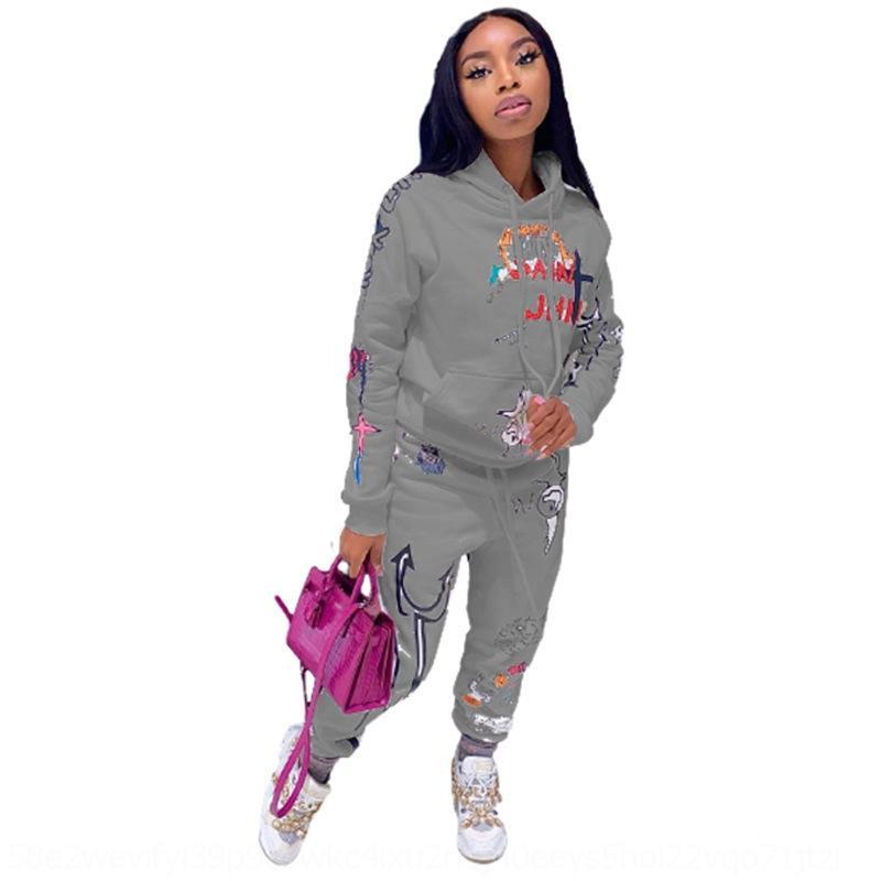 YQIM Plus Taille Taille Femmes Tracksuit Costume Vêtements Tenues Casual Color Porceau Ensembles T-shirts à manches longues + Leggings Fall Witer 2 Sports Jogger Solid 360