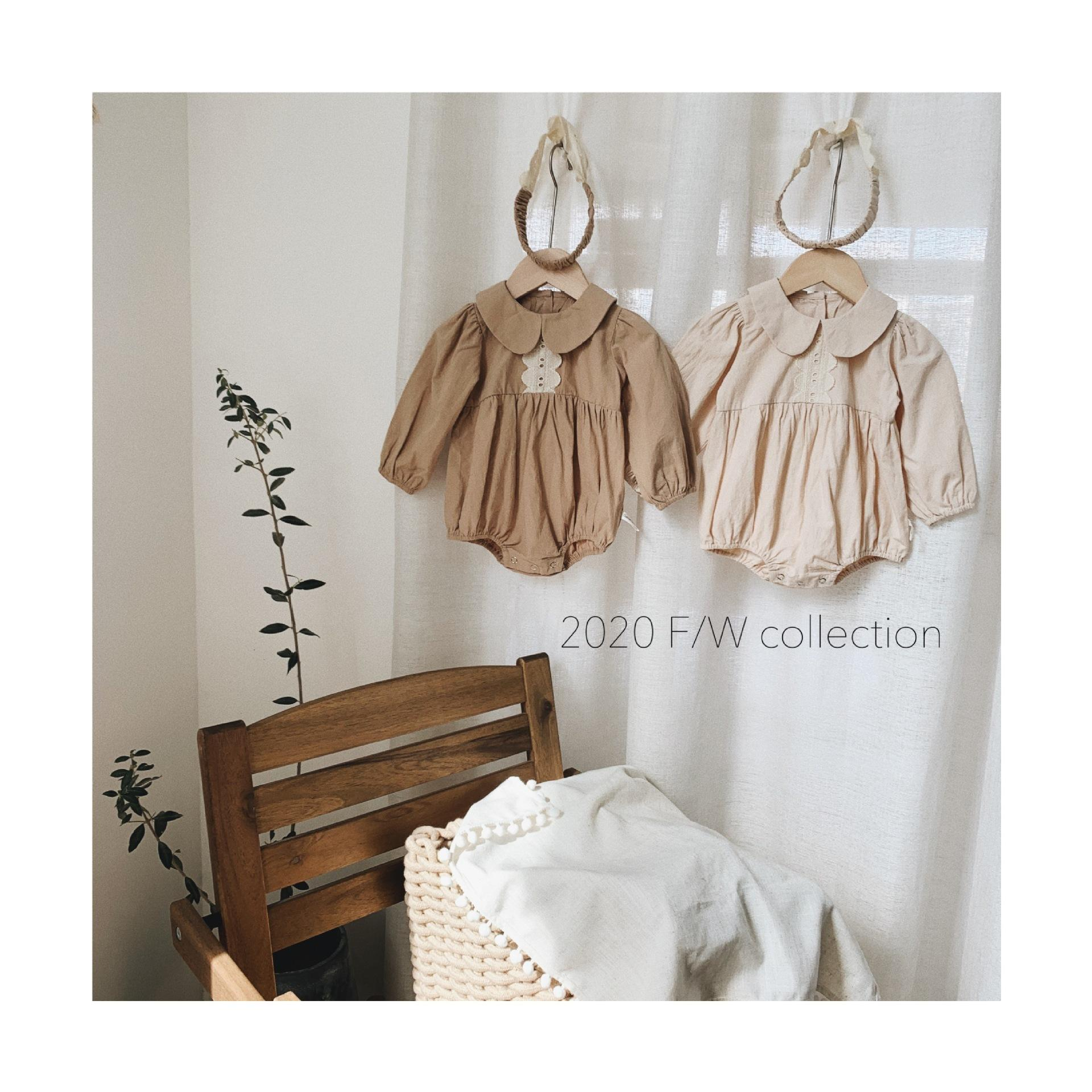 2020 Automne Baby Girl Rompers Volants Princesse Enfants Vintage Rompers Baby Girl Vêtements bébé Vêtements Y1219