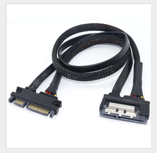 SATA 7 + 15 7 + 15 PIN Cavo di alimentazione del cavo del disco rigido in rame 30cm 50cm Cavo di trasferimento del convertitore USB USB