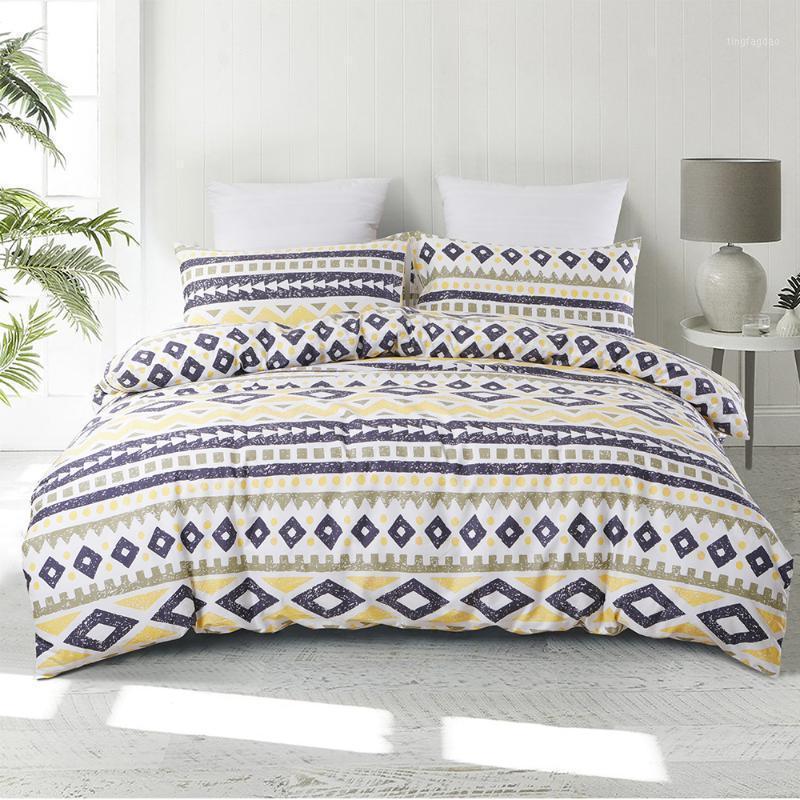 Bettwäsche-Sets Geometrische Bettbezug Böhmen-Set Bettwäsche-Quiltabdeckungen Einzelne Doppelköniginkönig-Bett-Bettwäsche (kein Blatt) 1