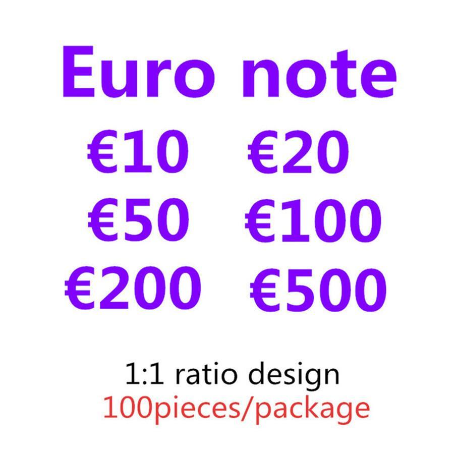 Hohe Qualität Großhandel Nachtclub Bar Atmosphäre Requisiten Geld Faux Billet Euro Gefälschte Film Geld Billet Euro Spiel Geld E46