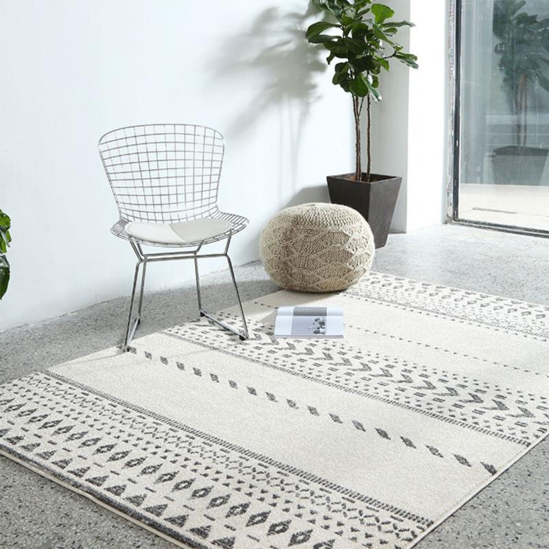Nordic luxueux tapis de la salle de séjour moderne tapis à la maison Tapis épais pour chambre à coucher Couverture de chevettte Tapis de table Maroc