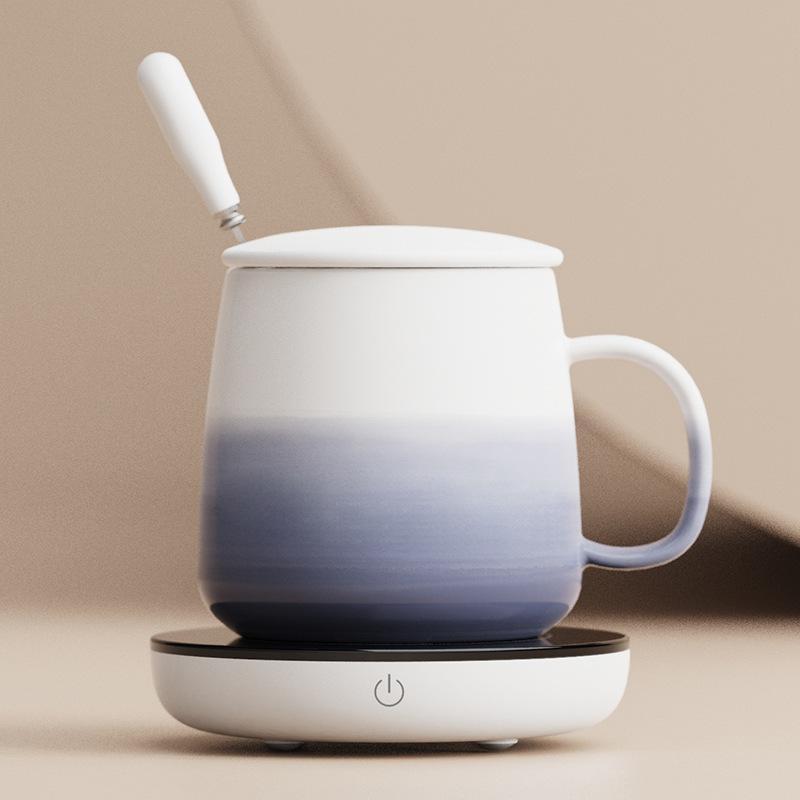 16W tasse chauffe-tasse chauffante chauffante tasse chauffant thermostatique thermostatique t-shirt tampon chauffe-tampon chauffant pour café thé thé 220v y1201
