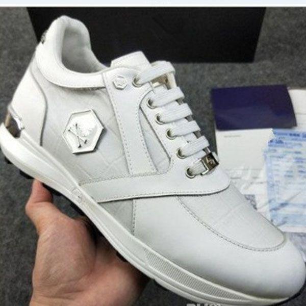 2020 High-End Pi @ Hilp Pi @ IE Lace High-top couro casual sapatos moda flash broca mens esportes sapatos k1