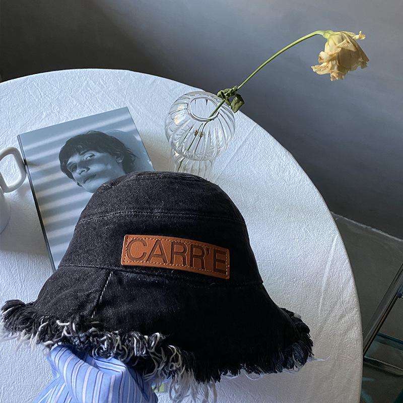 Balıkçı'nın şapka kot marka versiyon pürüzlü brim havzası şapka güneşlik şapka kadın yaz güneş kremi nakış erkek sanat klwe