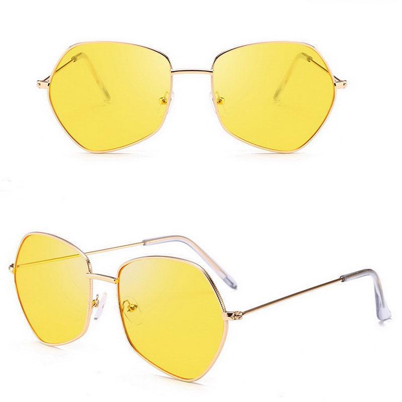 Designer Jyjewel Ocean Hexágono Espelho Sunglasses UV400 Sol Vintage Óculos Homens Mulheres Óculos Coloridos Elocr