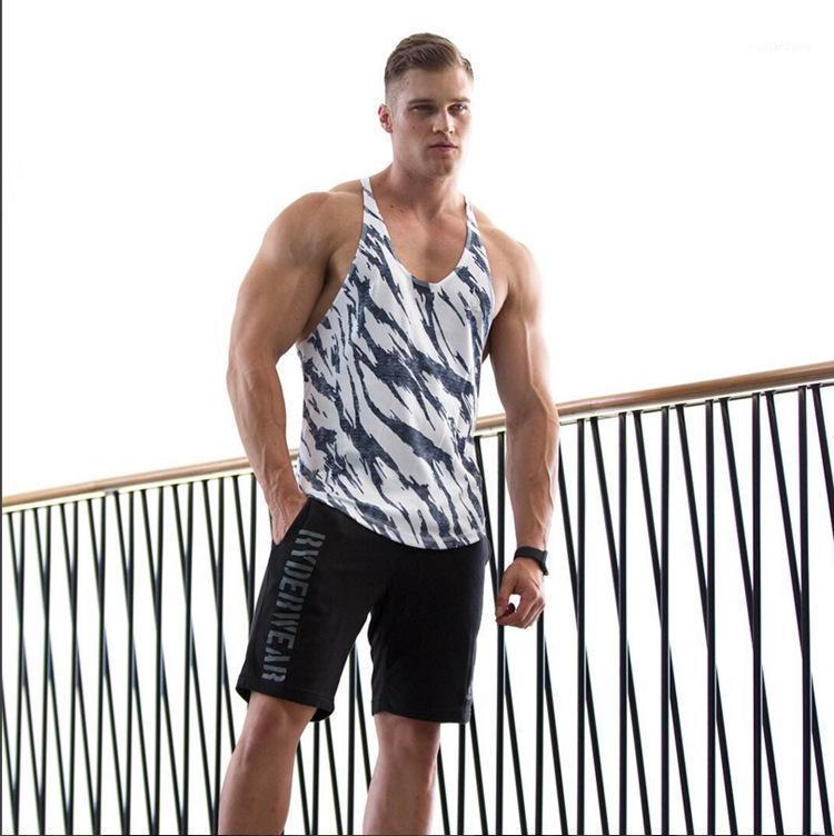 Compression Muscle Gym Gym Fitness Men's Summer Nouveau Slim-Fit Top Straight de Sports Train De Sports Entraînement de Jogging pour hommes Golding Vest1