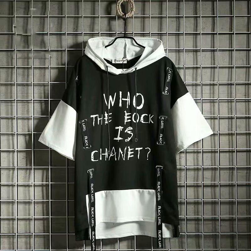 2020 Été à capuche Punk Style de style Sweats à mi-manche Homme à manches Homme Casual Hip Hop Sweatshirts Streetwear Mens Hoodies