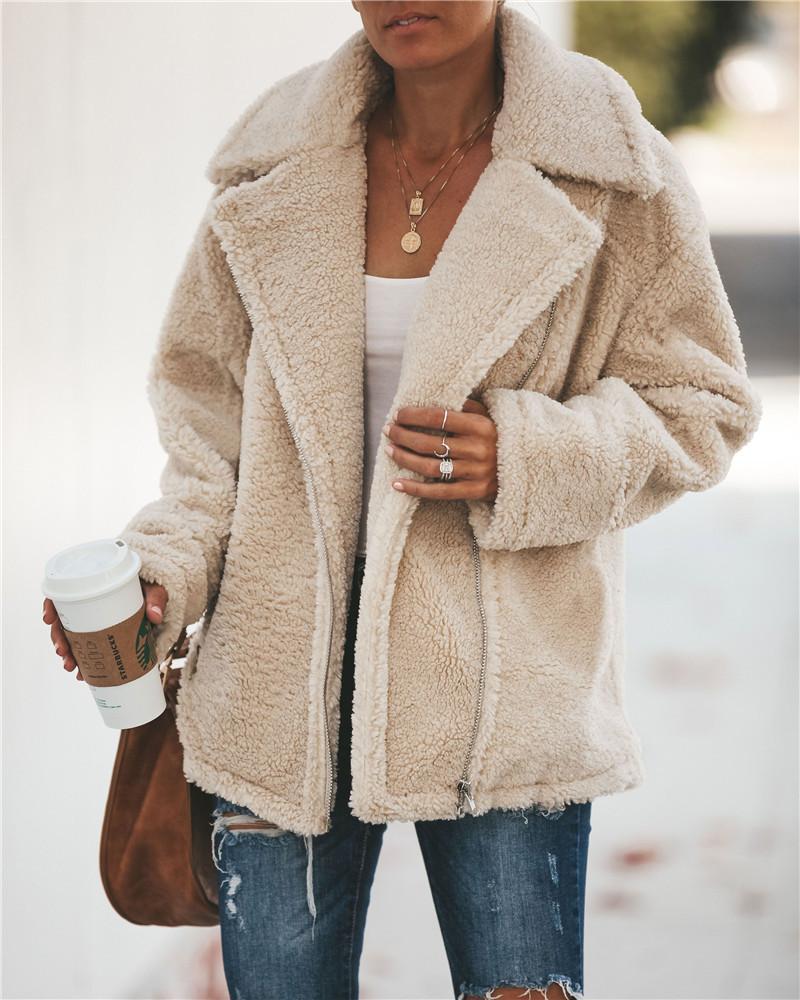 Venta caliente más vendida 2020 Otoño e invierno Moda de invierno Cremallera de manga larga Chaqueta para mujer Chaqueta Polar Fleece 101231