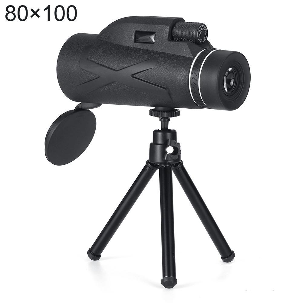 80x100 Портативный профессиональный Увеличение Монокуляр Бинокль Увеличить Портативный Военный Hd Охота телескоп