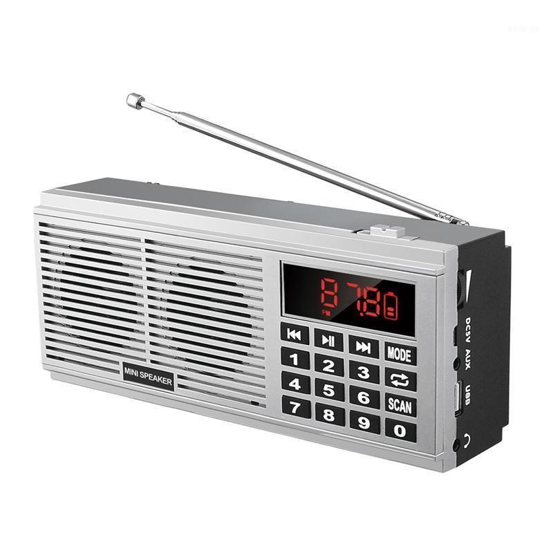 L-518 Digital MP3 MP3 Music Player Lautsprecher Mini Portable Mini Auto Scan FM AM MW Funkempfänger (Silber) 1