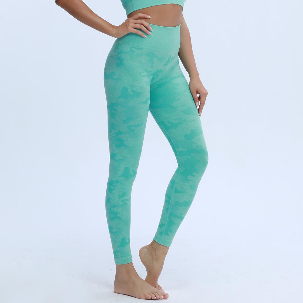 Непоагимы женские новые цвета камуфляж бесшовные леггинсы высокая талия добыча щеголи легинги сжатия йога брюки q1224