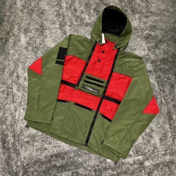 Nedensel Erkekler Rüzgarlık Ceketler Moda Kapüşonlu Mont Uzun Kol Unisex Açık Hip Hop Streetwear Bahar Sonbahar Kış Coat En Kaliteli