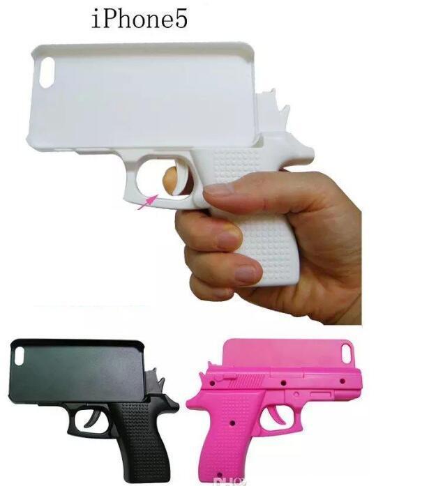 3D творческий пистолет в форме модная кепка твердый PC чехол для iPhone 12 12MINI 12PRO MAX Toy Toy Calle телефон крышка кожи
