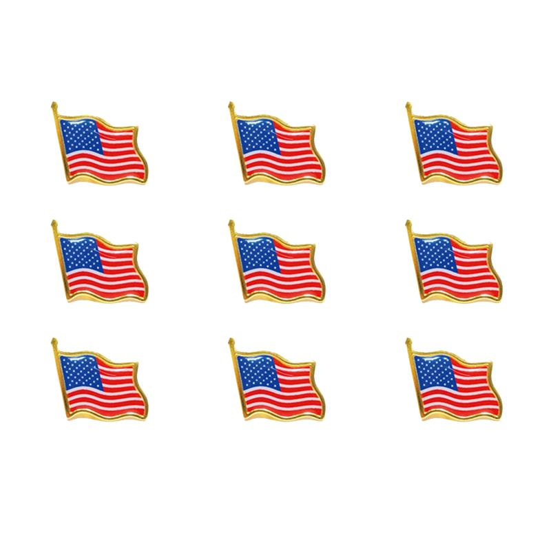 EUA UK Rainbow Flag Badge Colarinho Pin Vestuário Gravata Chapéu Backpack Pin Jacket Acessórios Presente de festa de férias