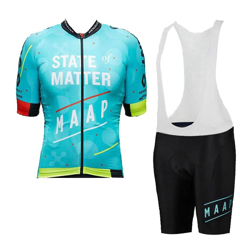 2021 Maap Team Men Cycling Jersey Set Summer MTB Bicicleta Camisa BIB Shorts Traje Summer Bike Uniform Quick Dry Sport Cycle Outfits Y21030607