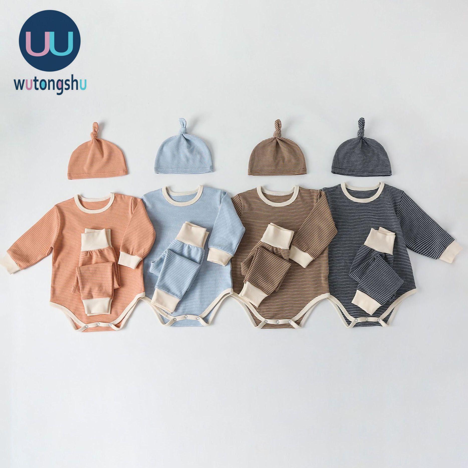 Säuglingskleidung für Baby Mädchen Kleidung Set Neue Herbst Winter Neugeborenen Baby Kleidung Strampler + Hosen + Hut Outfits Baby Kostüm 201026