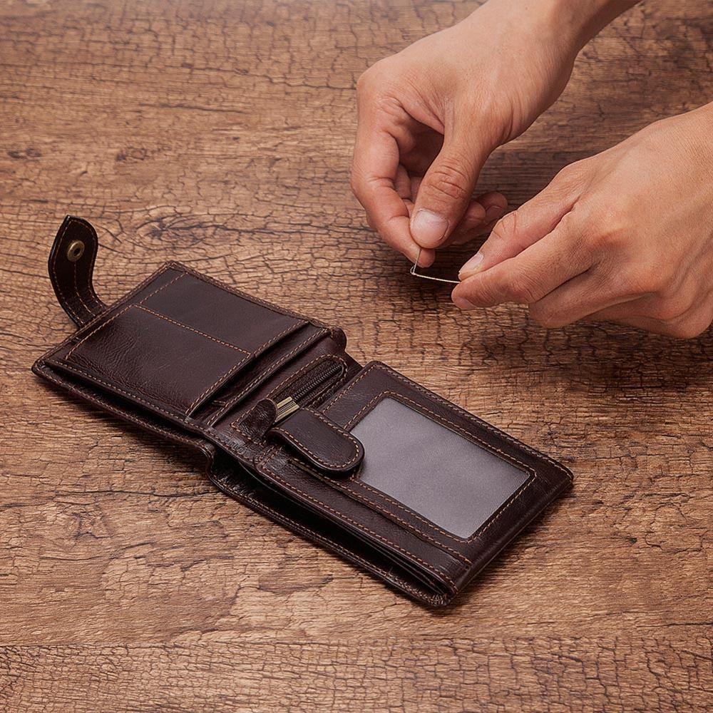 Cowide Deri Cüzdan Erkekler RFID Engelleme Tahtası Kart Iş KIMLIK Kart Sahipleri Yüksek Kalite Erkek Çanta Para Çanta 2020 Sıcak Satış