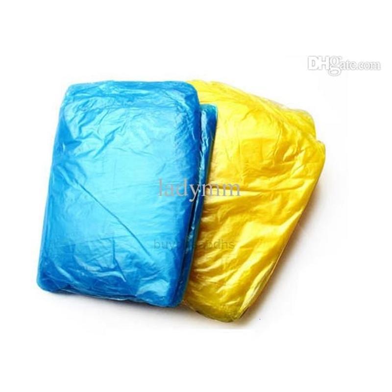 PE desechables impermeables Ponchowear Wearwear Fashional Travel abrigo lluvia desgaste regalos mezclados colores xHrpc0