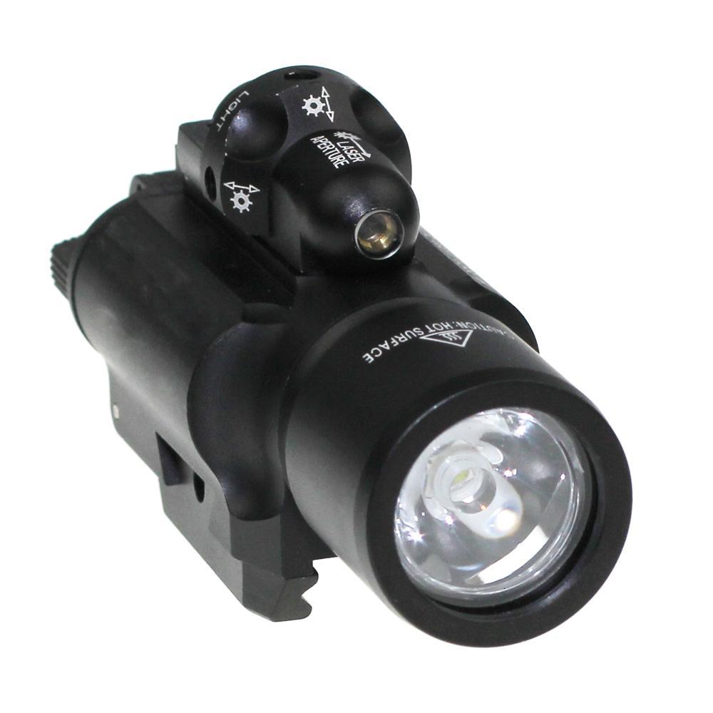 X400 Combo LED SF Оружие оружия Красный лазерный фонарик Тактический пистолет Scout Light Rail Установлен для охоты 2 N9nul