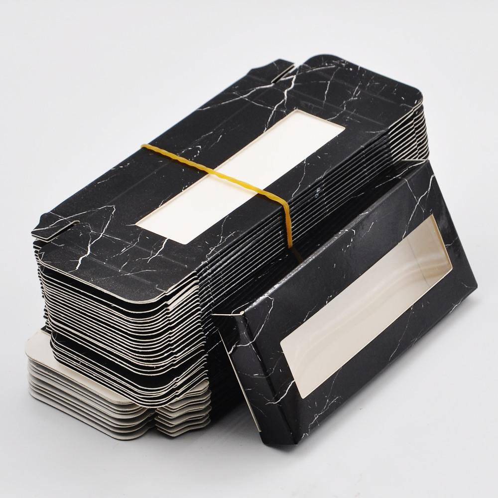 wholesale 50/100pcs false eyelash packaging paper Box lash boxes packaging custom logo faux cils 3d Mink eyelashes Black Cosmetic Case