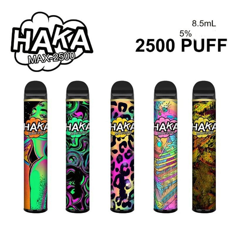 Dispositivo per pod monouso Originale Haka Max 2500 sbuffi 5% 1350mAh batteria batteria premilled kit eCi premilled 100% genuino vape