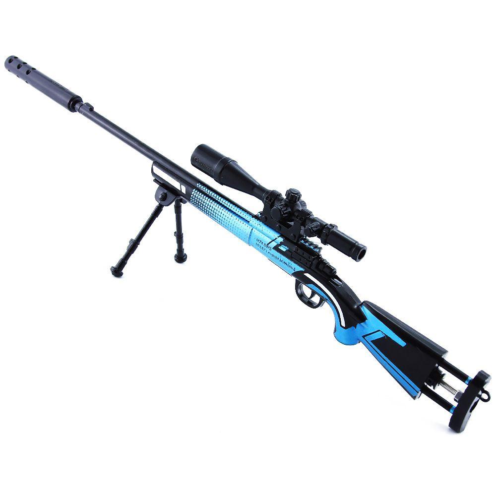Jedi Battle Royale Game Sinister 큰 주변 M24 스나이퍼 소총 모형 금속 장난감 총의 조립 된 버전