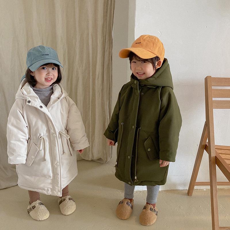 Зимняя детская дженечная дневная куртка для мальчиков и девочек 95% белая утка вниз твердой утолщенной поясной балда 2020 гг. Y1208