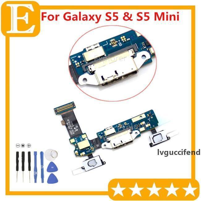 OEM für Galaxy S5 SM-G900F G9008 G900A G900T G900M VS G900P G900V G9008V G9008W Ladeanschluss Dock Connector Micro USB Port Flex Kabel