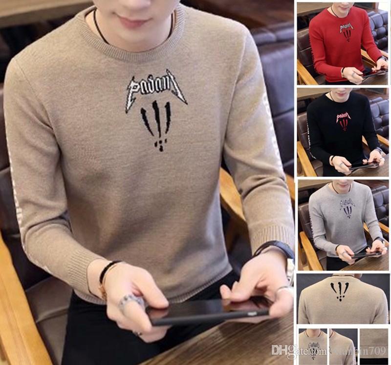 Erkek Tasarımcılar Kazak Erkek Kazak Yeni Uzun Kollu Kazak Trend Gevşek Kazak Avrupa ve Amerika Öğrencileri Giyim Trend Kazak Satış