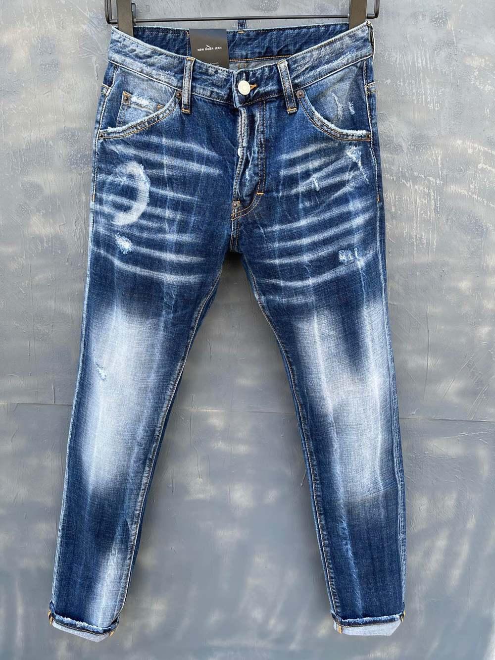 2021 Neue Marken Europäische und amerikanische Mode Herren Casual Jeans, hochwertiges Waschen, reines Handschleifen, Qualitätsoptimierung LT9138