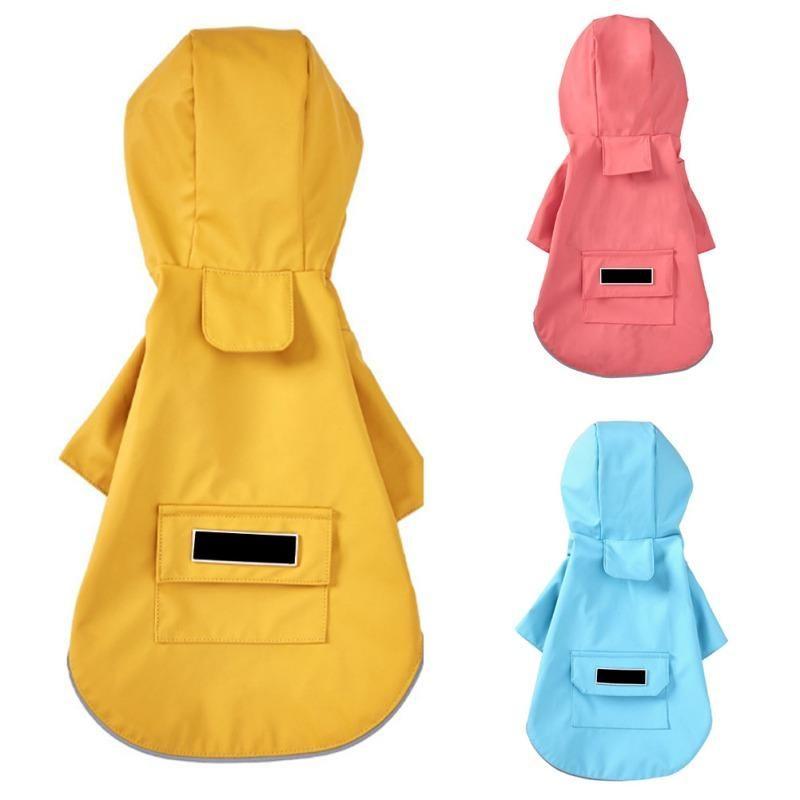 Dog Apparel Fashion Pet Waterproof Raincoat Jumpsuit Reflective Rain Coat Sunscreen Outdoor Clothes Jacket For Small