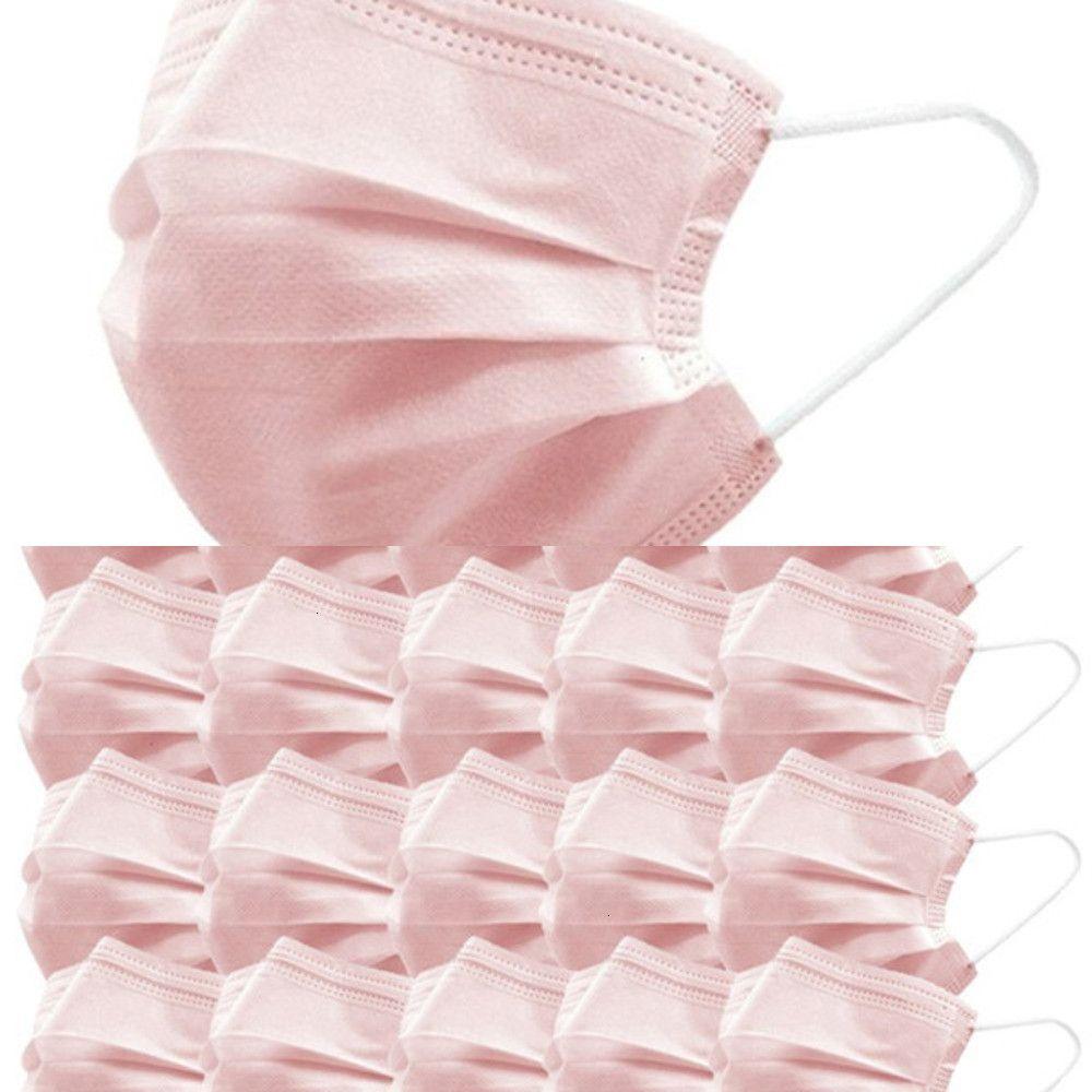 Лицо Одноразовая Противопыльный Выход Anti-дымка маска розовый Эластичный Earband 1 / 20шт