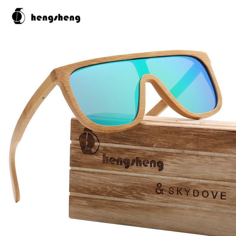Sonnenbrille Skydove Rechteck Goggle Bambus Männer Herren Polarisierte Hohe Qualität Holz Sonnenbrille 2021