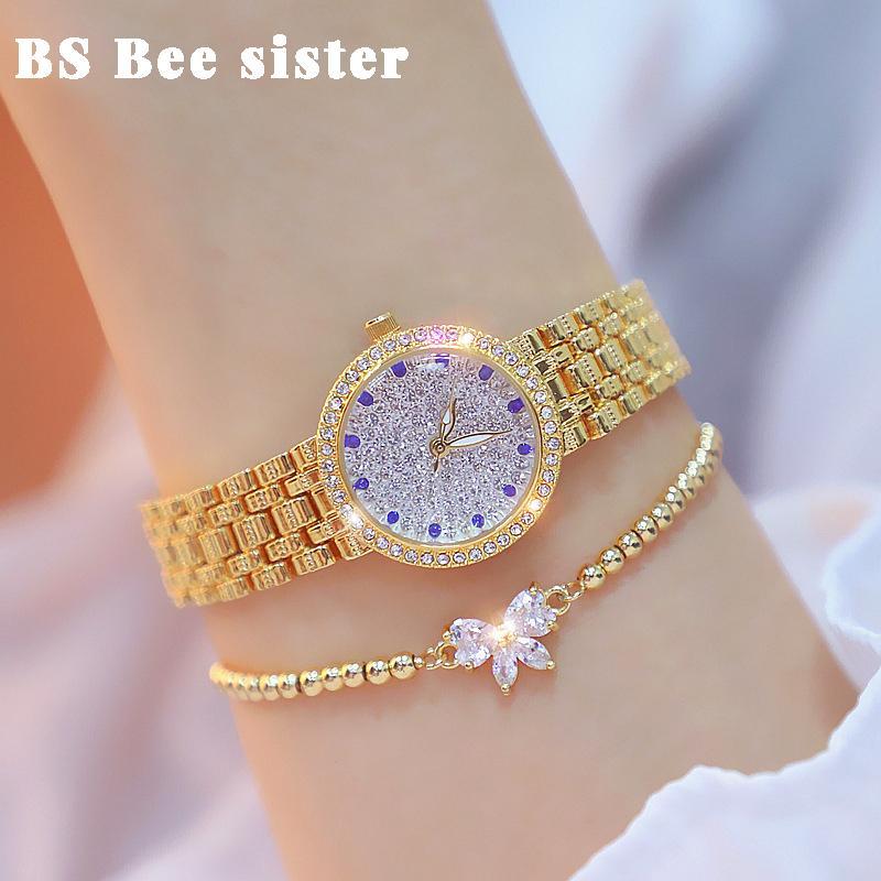 Mulheres assistem marca famosa elegante diamante criativo pequeno ouro senhoras relógio de pulso feminino relógio de pulso Bayan Kol Saati 2021 201211