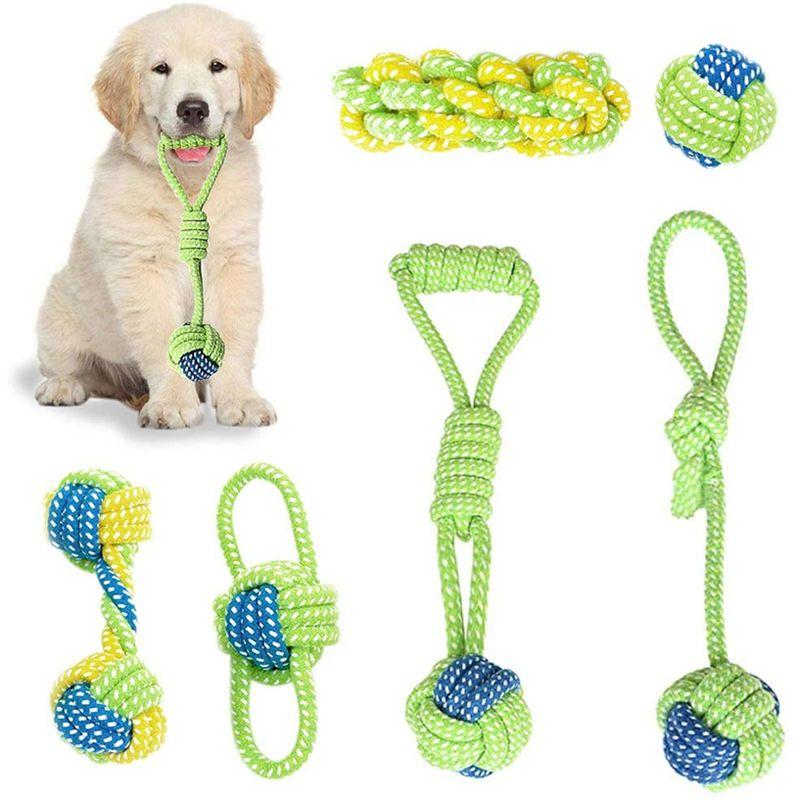 التفاعلية الكلب مضغ حبل لعبة جرو الأسنان تنظيف اللعب للكلاب في الهواء الطلق ترانينج اللعب آمنة الحيوانات الأليفة اللوازم JK2012PH