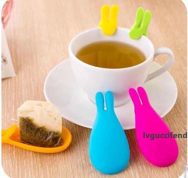 FREE SHIPPING 2019 New hot silicone tea bag Korean cute rabbit cup recognizer Silicone rabbit ear tea maker
