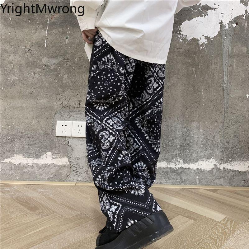 Свободная летняя сторона полый ремешок талии бандана Jogger брюки корейской улицы Hiphop Harem Cousssuit мода женщины черный брюк Q0112
