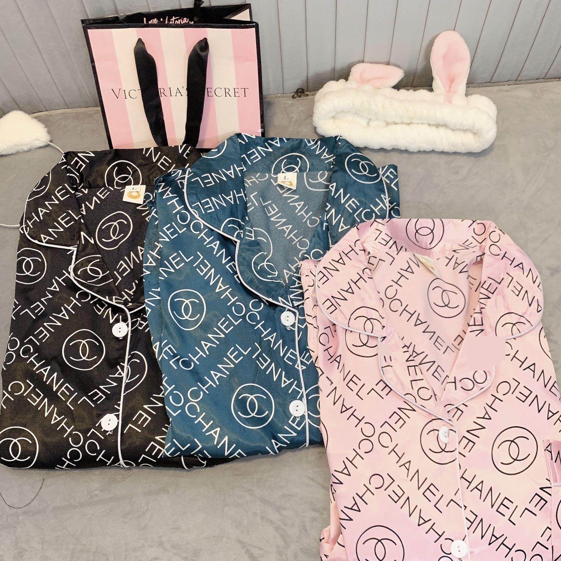qVEj Womens Pajamas Sets Y200425 Short-Sleeve Shirts And Pants Animal Print Pajama Set Sleepwear Women Sexy Summer Homewear 100Cotton