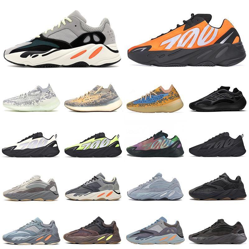 Yeezy Boost 700 Kanye West ayakkabı Yansıtıcı Portakal Kemik Dalga Runner erkek bayan ayakkabı Spor ayakkabı Katı Gri Analog Tael Karbon Mavi Tasarımcı Ayakkabı Koşu