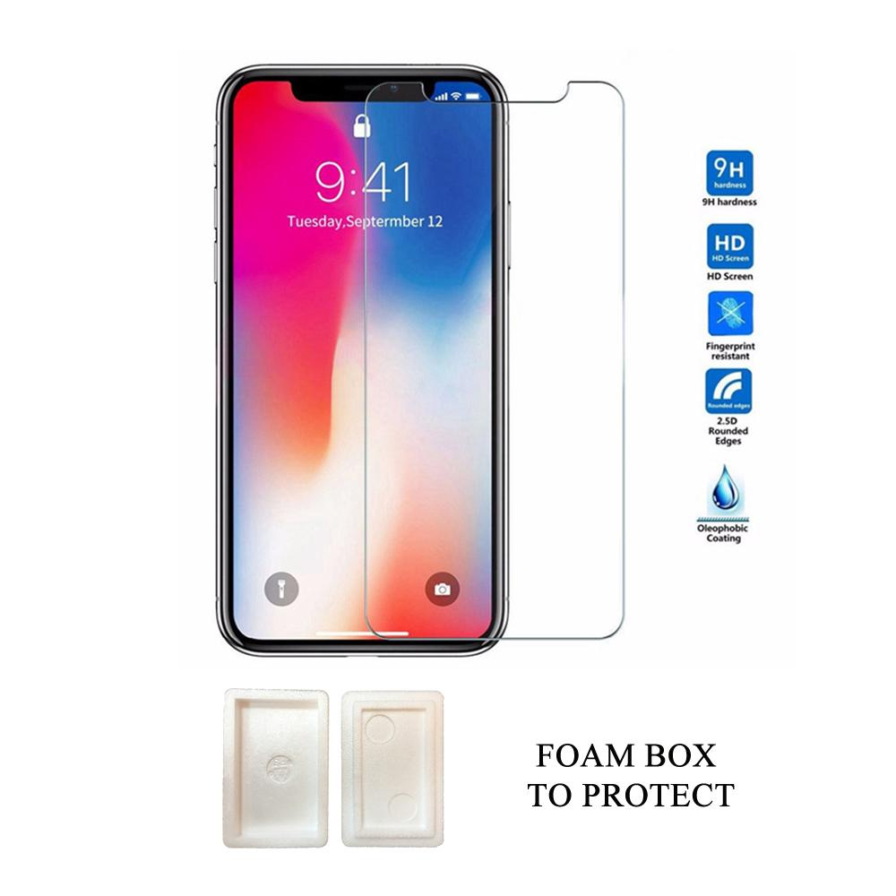9H Tempered Glass Screen Protector for 12 11 Pro Max XS XR 7/8 Plus Samsung 0.3mm Thickness bb