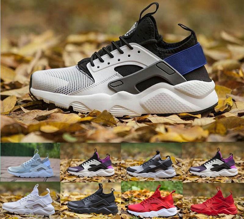 Sıcak Satış Huarache 4.0 4 1.0 Klasik Üçlü Beyaz Siyah Kırmızı Koşu Ayakkabıları Erkekler Kadınlar Huaraches Spor Sneaker Eğitmenler Ayakkabı 36-45