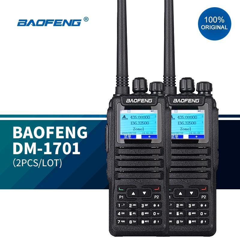Walkie Talkie 2 STÜCKE Baofeng DM1701 Zwei Way DMR Tierra 1 2 Digital Radio Dualband Handband Handheld Walk