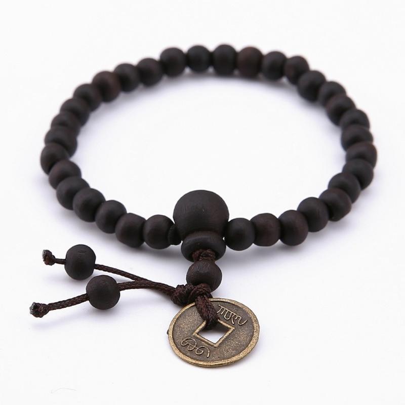 Kaimin 6mm uomini in rame braccialetto di legno braccialetto perlina tibetano braccialetto buddha braccialetto pietra diffusore braccialetti uomini gioielli regalo all'ingrosso